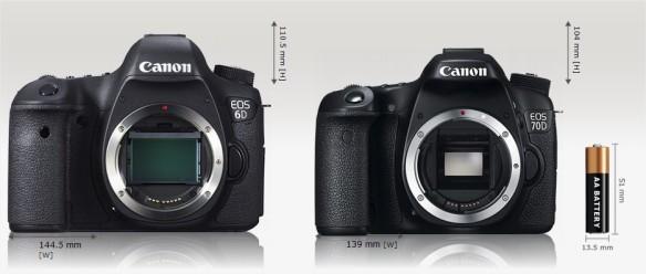 Canon EOS 6D vs Canon EOS 70D Camera Size Comparison - Google Chrome